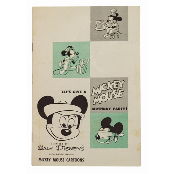 Let's Give a Mickey Mouse a Birthday Party Booklet.