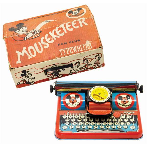 Mouseketeer Fan Club Typewriter.
