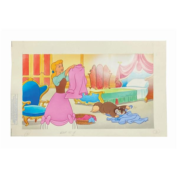 Set of (3) Cinderella Storybook Illustrations.
