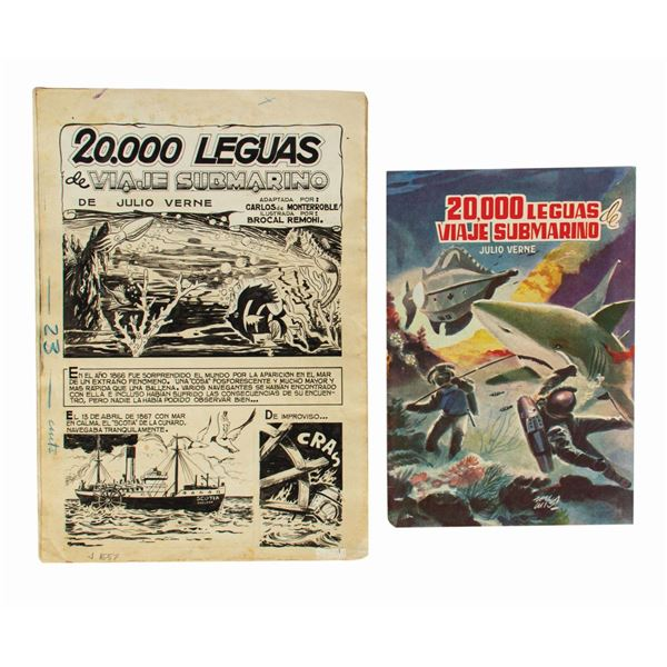 20,000 Leagues Complete Original Spanish Comic Art.