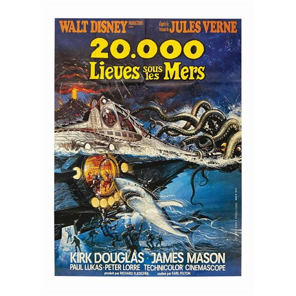 20,000 Leagues Under the Sea French Re-Release Poster.