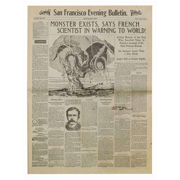 20,000 Leagues Under the Sea Restrike Newspaper.