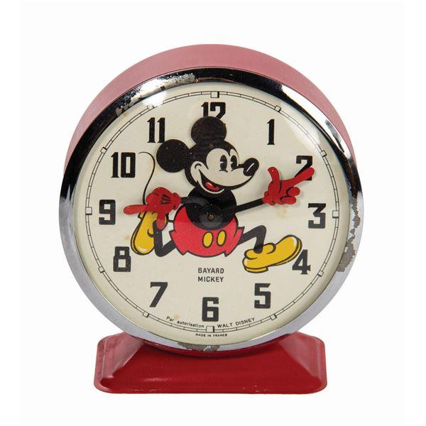 Mickey Mouse Bayard Metal Clock.