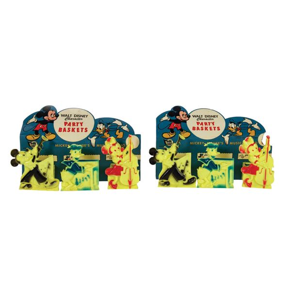 Pair of Mickey Mouse's Musical Trio Party Baskets.
