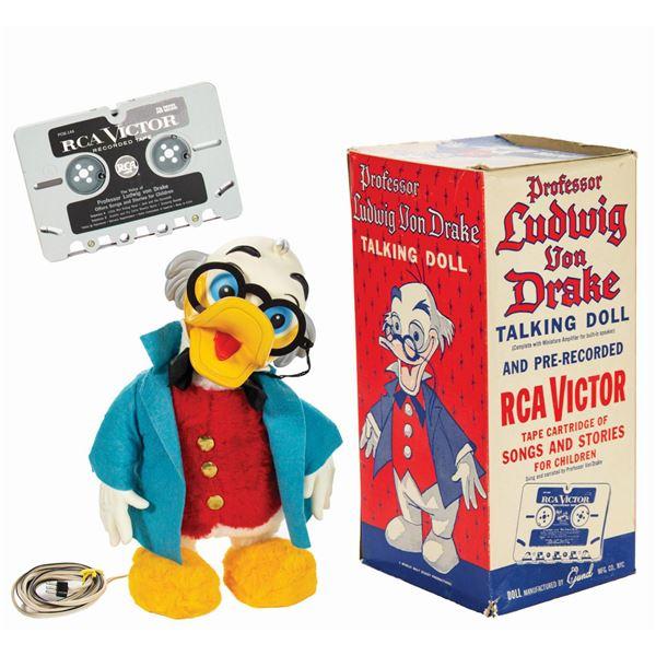 """""""Professor Ludwig Von Drake"""" Talking Doll by Gund."""