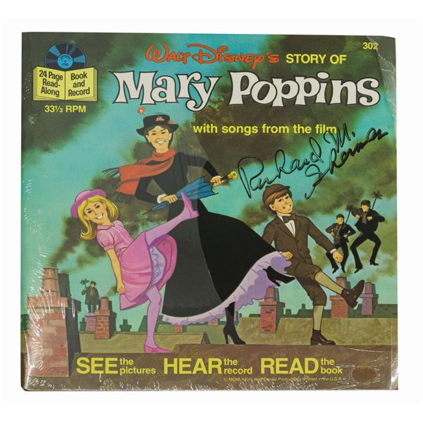 Mary Poppins Record Signed by Richard Sherman.