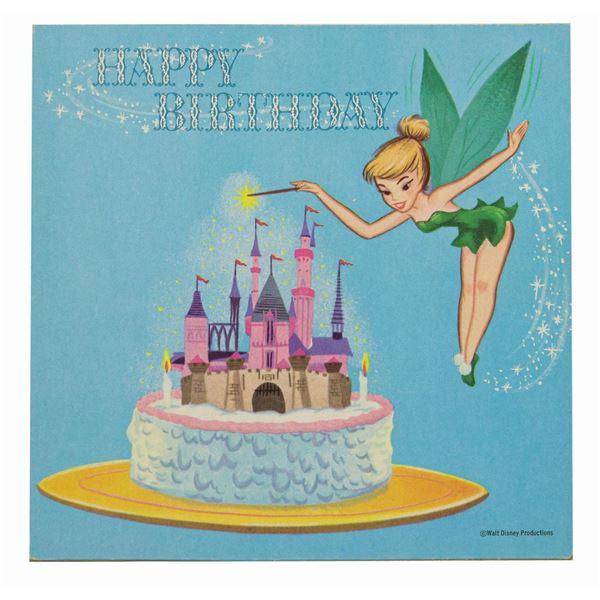 Tinker Bell Birthday Card Record.