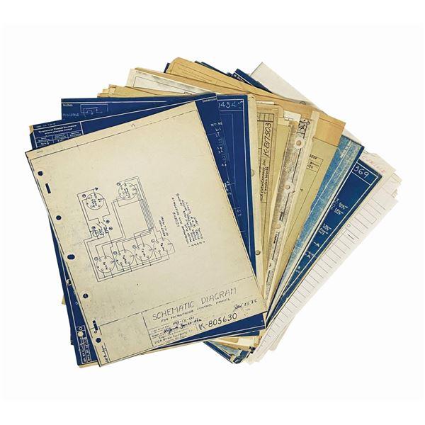 Set of Early Burbank Studio Blueprints & Forms.