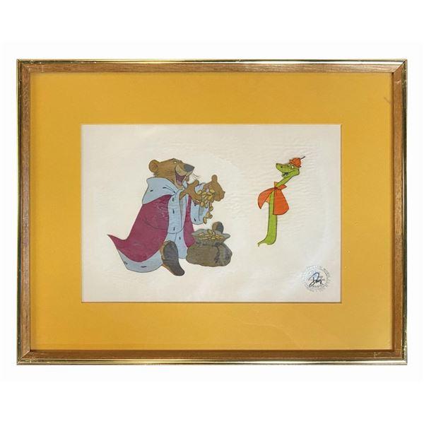 Robin Hood Prince John & Sir Hiss Animation Cel.