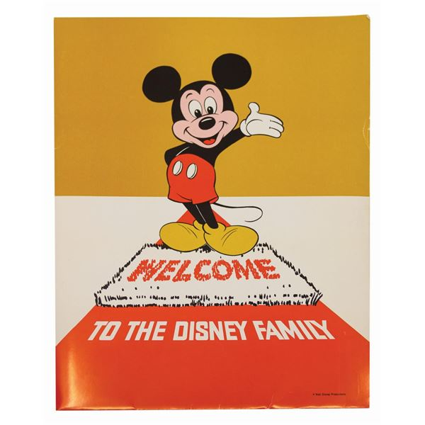"""""""Welcome to the Disney Family"""" Orientation Folder."""
