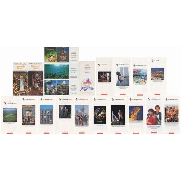 Set of (20) Walt Disney Company Quarterly Reports.