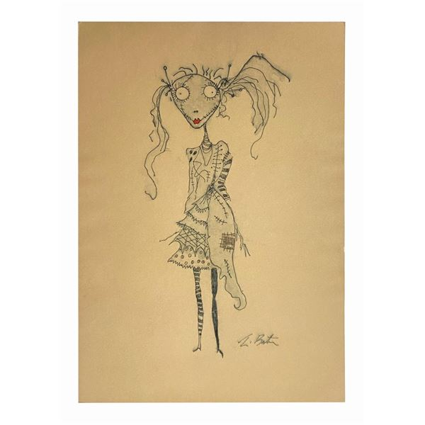 The Nightmare Before Christmas Tim Burton Sketch.