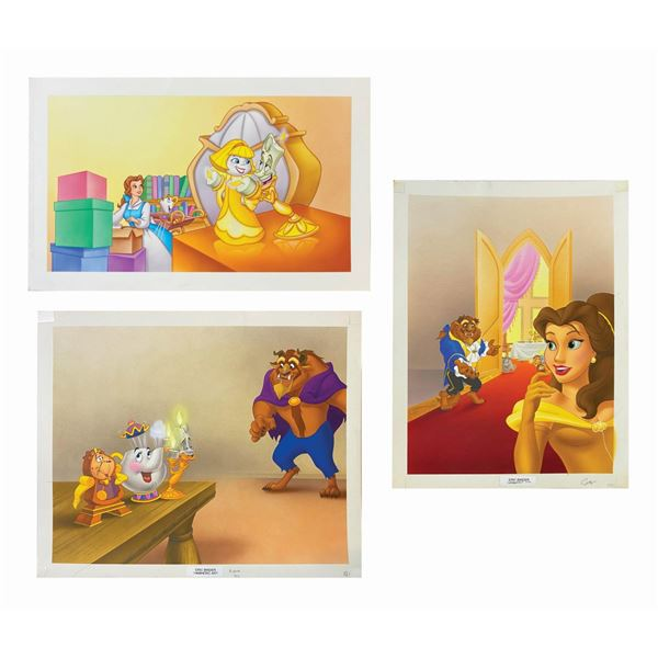 Beauty & the Beast Book Cover Art & (2) Illustrations.