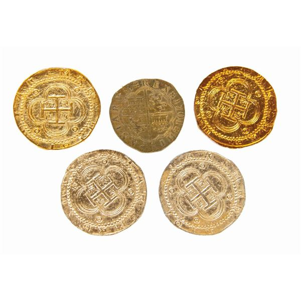 Collection of (5) Pirates of the Caribbean Prop Coins.