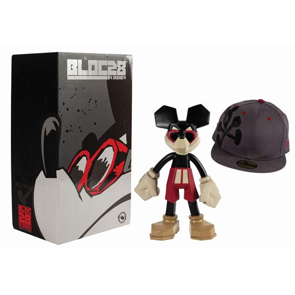 Block28 Mickey Mouse Figure and New Era Fitted Hat Set.