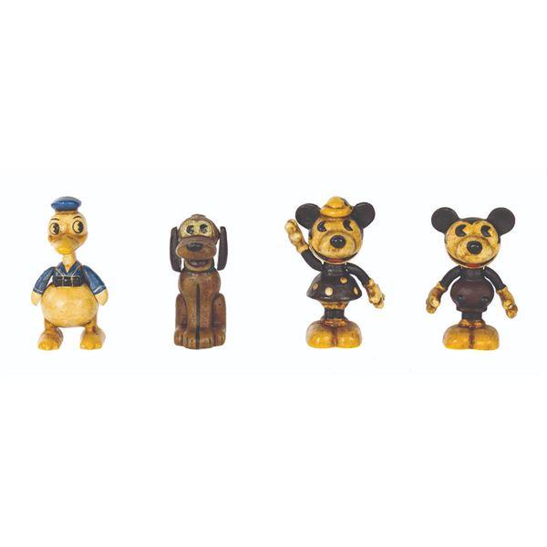 Set of (4) Retro Mickey & Friends Sand Cast Toys.