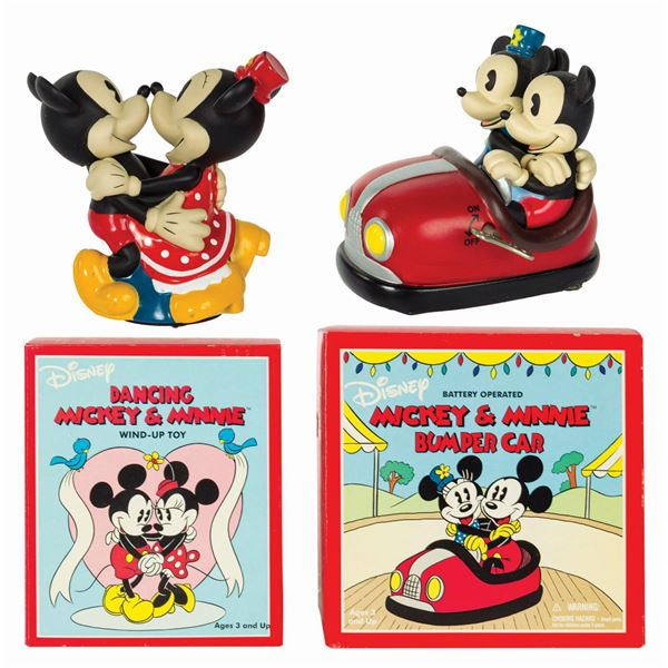 Mickey & Minnie Dancing Toy and Bumper Car.