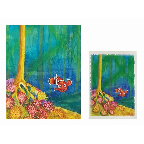 Finding Nemo The Musical Painting & Card.