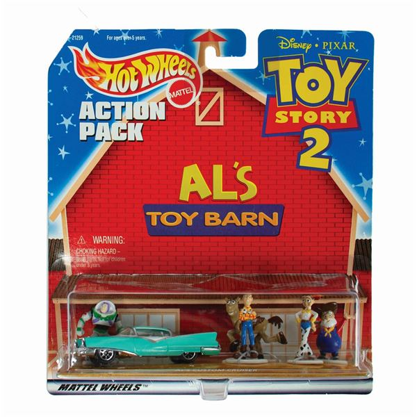 Toy Story 2 Al's Toy Barn Hot Wheels Action Pack.