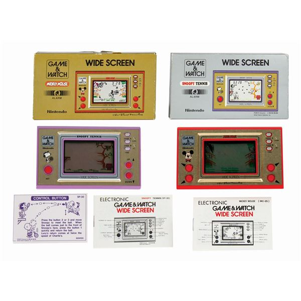 Pair of Nintendo Game & Watch Wide Screen Consoles.