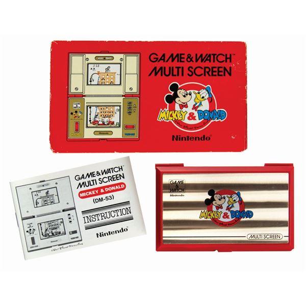 Nintendo Game & Watch Mickey & Donald Multi Screen.