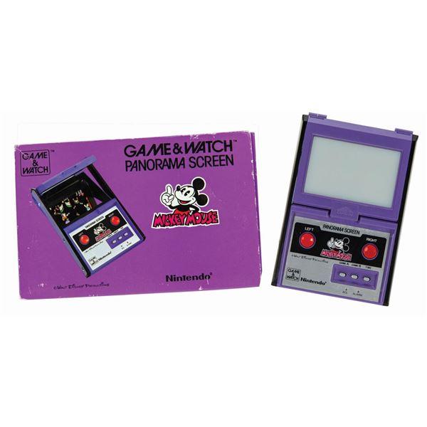 Nintendo Game & Watch Mickey Panorama Screen Console.