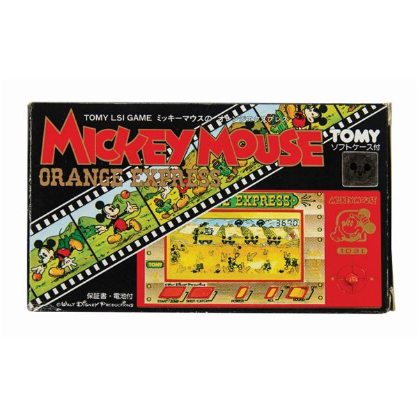 """Mickey Mouse """"Orange Express"""" Tomy LSI Game."""