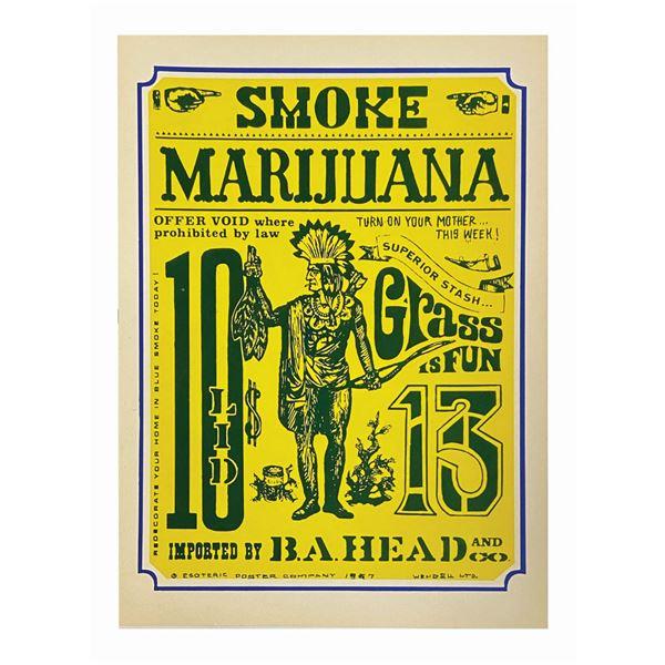 "Rolly Crump Smoke Marijuana ""Doper Poster"" Handbill."