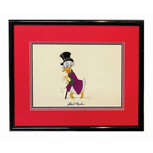 Carl Barks Signed Scrooge McDuck Cel.