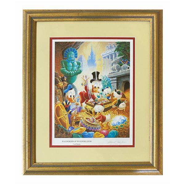Carl Barks Signed Wanderers of Wonderlands Print.