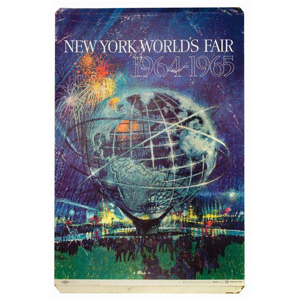 1964-65 World's Fair Standee Poster.
