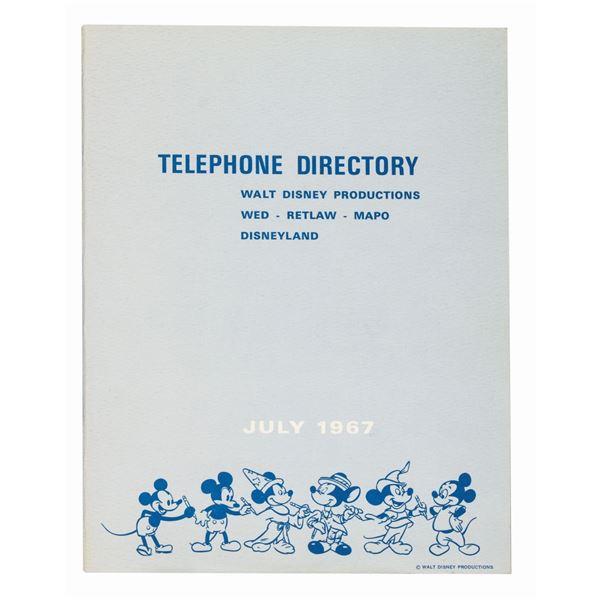 1967 WDP, Disneyland, & WED Directory.