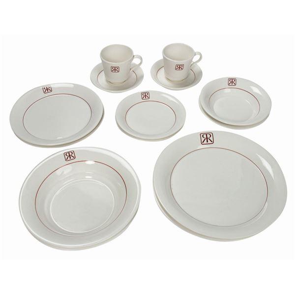 Set of (14) Pieces of Retlaw Dinnerware.