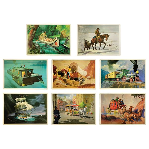 Early American Transportation Walt Disney Study Prints.
