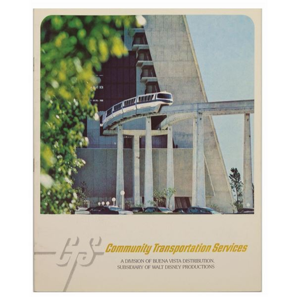 Community Transportation Services Monorail Booklet.