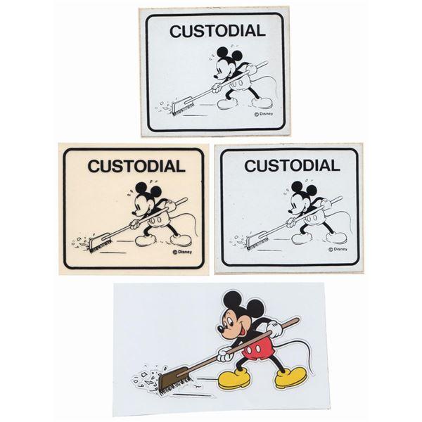 Set of (4) Custodian Mickey Graphics.