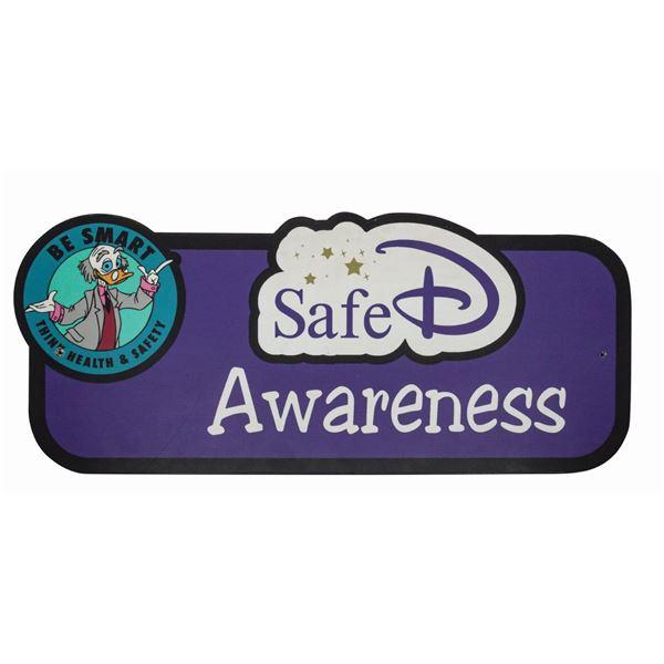 SafeD Awareness Disneyland Backstage Sign.