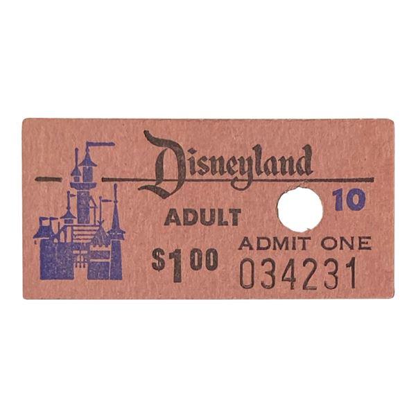 Disneyland Adult Admission Ticket.