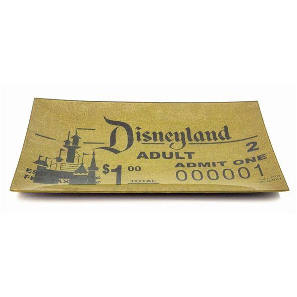 Disneyland 50th Anniversary Admission Ticket Tray.