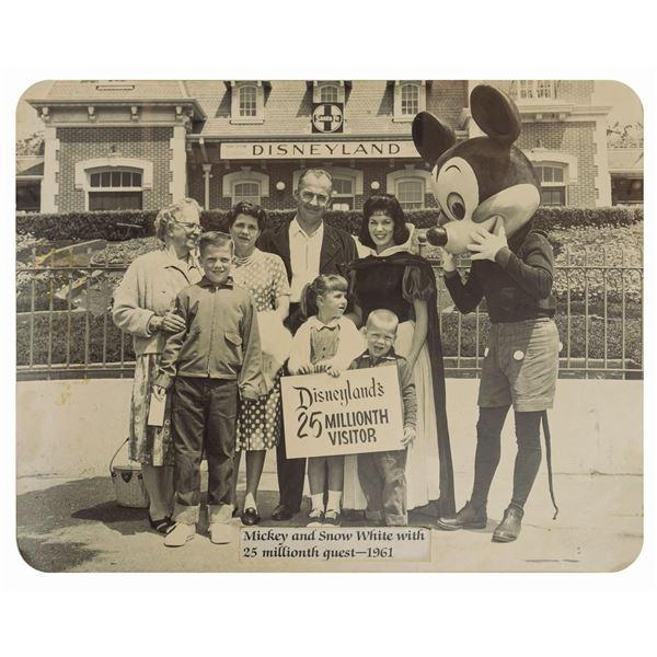 Disneyland 25 Millionth Visitor Photo Prop.