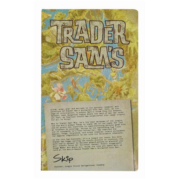 Trader Sam's Enchanted Tiki Bar Menu.