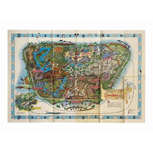 1962 Disneyland Souvenir Map.