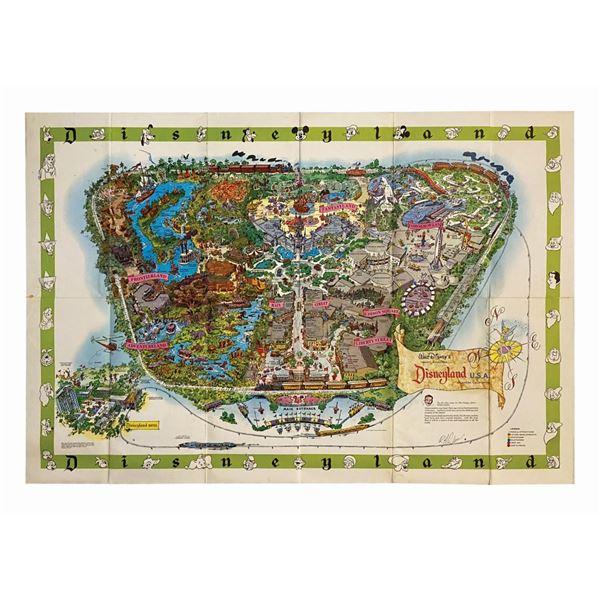 1964-A Disneyland Souvenir Map Signed by Bob Gurr.