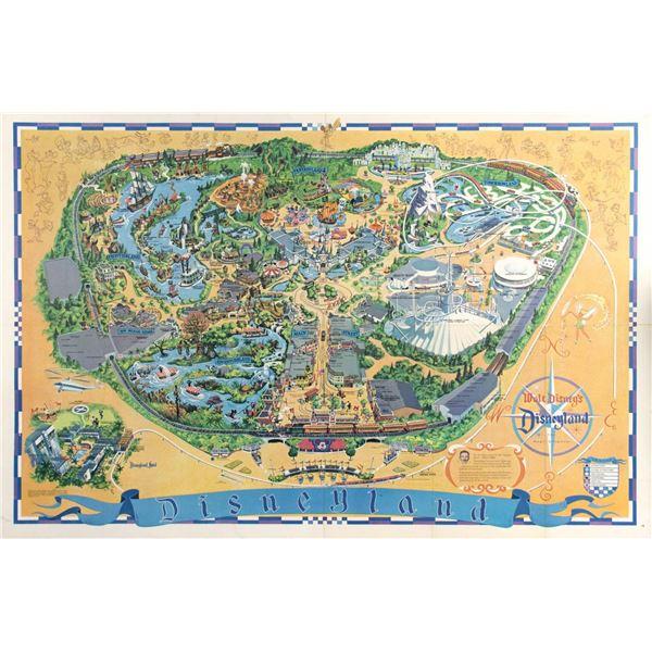 1968 Disneyland Map.