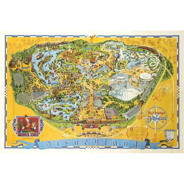 1974 Disneyland Map.