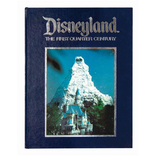 Disneyland: The First Quarter Century Hardcover Book.