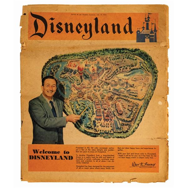Grand Opening Disneyland Newspaper Supplement.