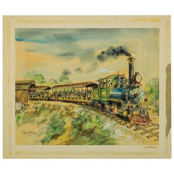 Sam McKim Disneyland Railroad Concept Painting.