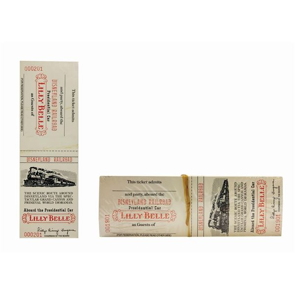 Collection of Lilly Belle Presidential Car Tickets.
