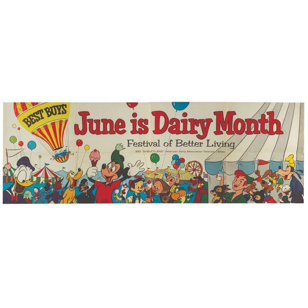 American Dairy Association Disneyland Banner.